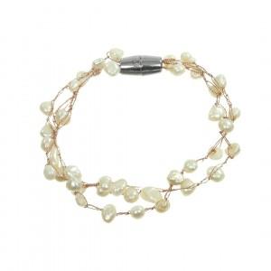 Bransoletka B1H70373-1 (naturalna perła rzeczna)